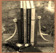 bookends_barn_wood_antler_8_tall_x_5_wide_x_5_deep_bord_text_sepia.jpg